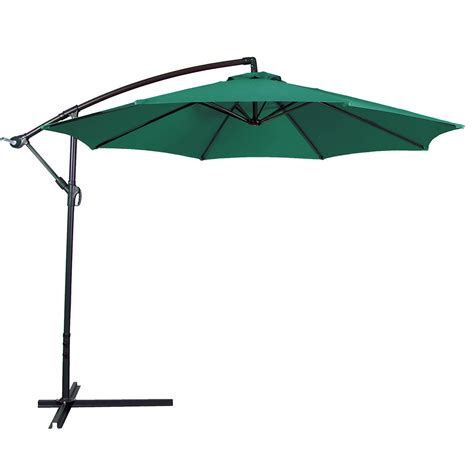 Patio Umbrellas With Base 10ft Hanging Patio Umbrella Sun Shade Offset Outdoor Yard Market W Cross Base