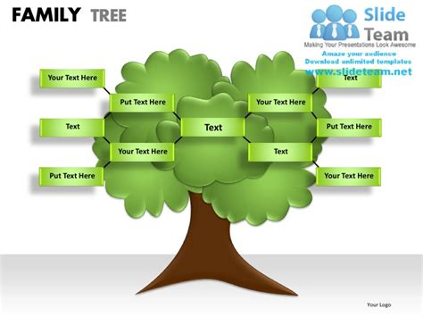 Family Tree Powerpoint Presentation Slides Ppt Templates Powerpoint Genealogy Template