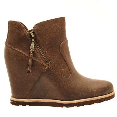 Wedge Boots buy ugg 174 womens chestnut myrna wedge boots at hurleys