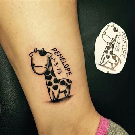 elephant and giraffe tattoo baby giraffe tattoos baby