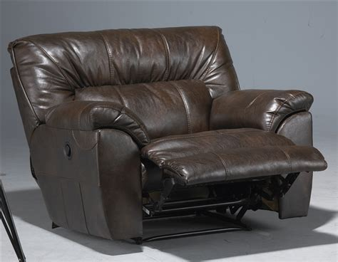 extra wide leather recliner nolan extra wide leather cuddler recliner by catnapper