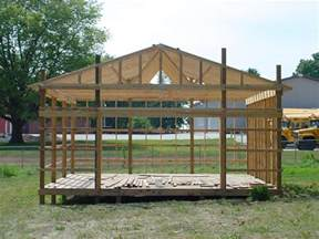 Diy Pole Shed by Pole Shed Plans Your Own Pole Shed From
