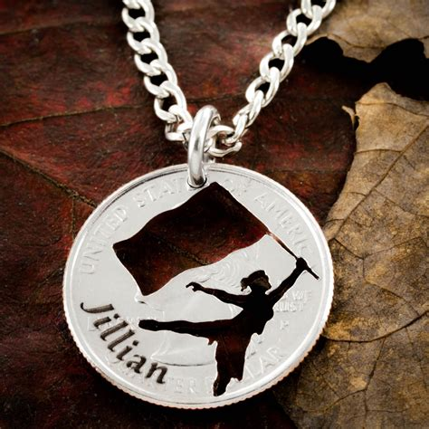 color guard jewelry colorguard jewelry custom name necklace namecoins