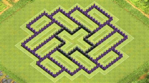 coc defense layout th8 clash of clans town hall 8 defense coc th8 best hybrid