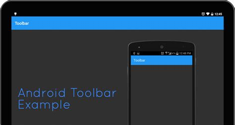 android toolbar tutorial android lollipop toolbar exle stacktips