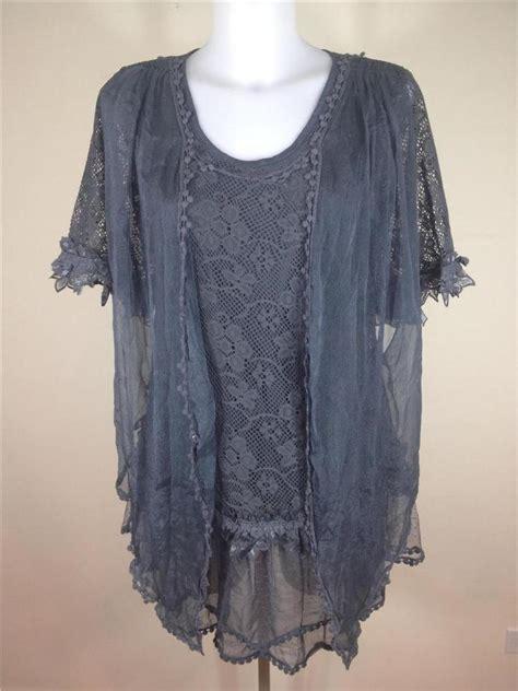 Black Lace Flower S M L Blouse 40708 nwt pretty lace vintage boho tunic blouse
