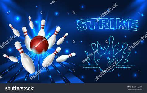 banner shutterstock bowling strike template tv size banner stock vector