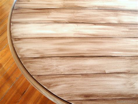 how to paint wooden faux planked table transformation reality daydream