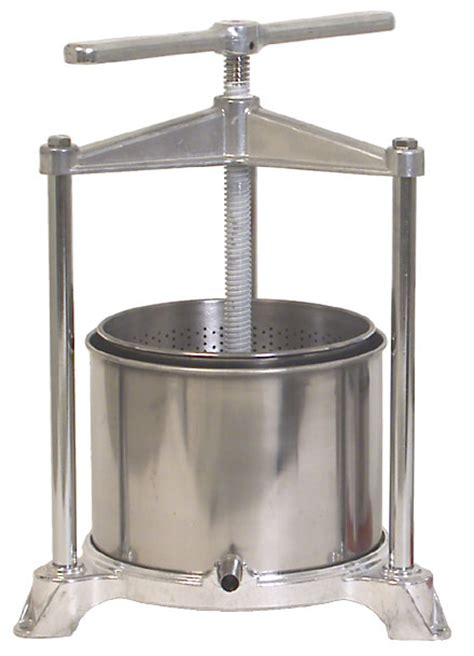 fruit press order this stainless aluminum fruit press from william s