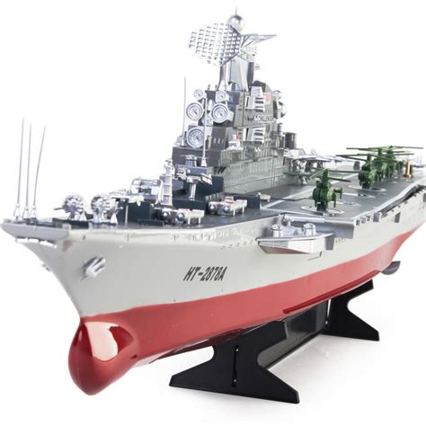 Kapal Boats Rc Sound Light ready to run challenger aircraft carrier 1 275 scale