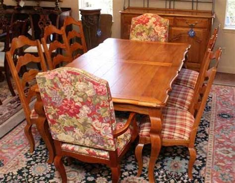 ethan allen country dining table and chairs 5759