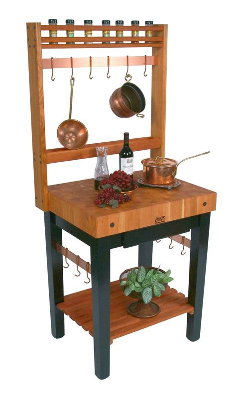 Boos Cherry Pro Prep Bloc ? Optional Pot Rack & Casters