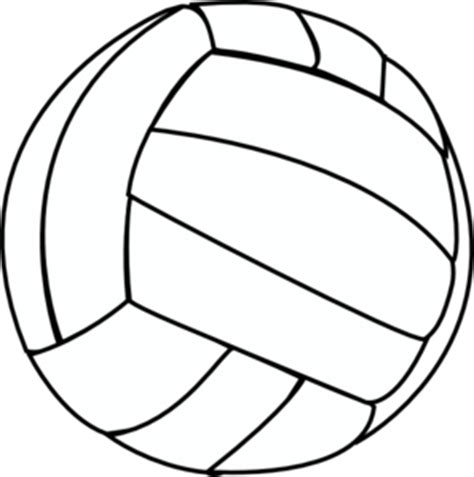 printable volleyball pattern volleyball drawing clipart best