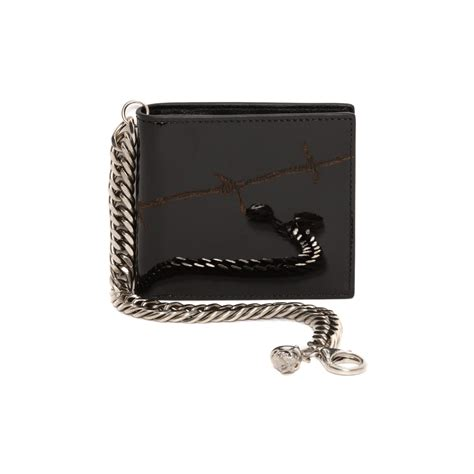 Chain Wallet by Lyst Mcqueen Barbed Wire Patent Leather Skull