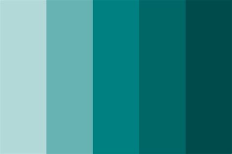 color of teal shades of teal color palette