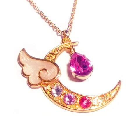 Rhinestone Moon Pendant Necklace fashion rhinestone waterdrop moon pendant