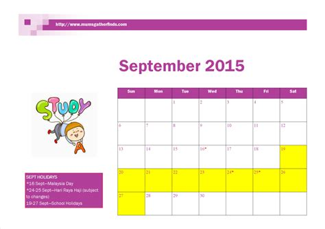 printable weekly planner september 2015 free printable pdf calendar for september 2015 mumsgather