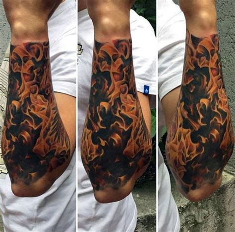 fire tattoos for men 100 forearm sleeve designs for manly ink ideas