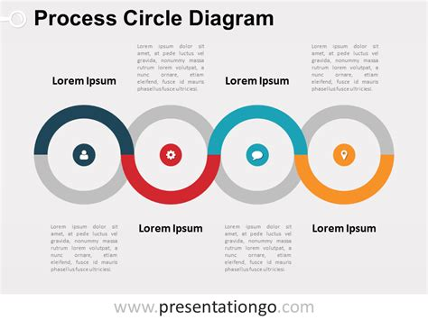 Free Process Circle Powerpoint Diagram Powerpoint Process Flow Powerpoint Template