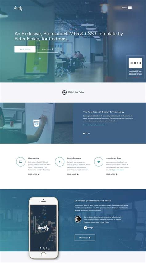 one page html template one page layout 인터랙션 디자인