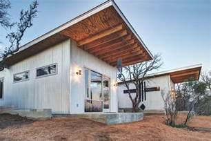 Patio Door Overhang Corrugated Metal Cabin Exterior Industrial With Shed Roof