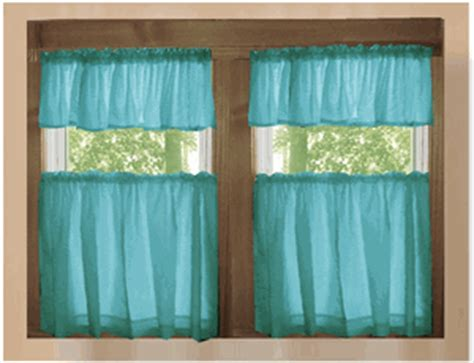 Teal Kitchen Curtains Solid Teal Kitchen Cafe Tier Curtains