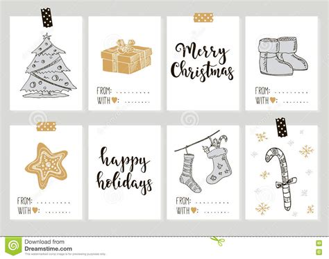 happy new year tags merry and happy new year vintage gift tags cards