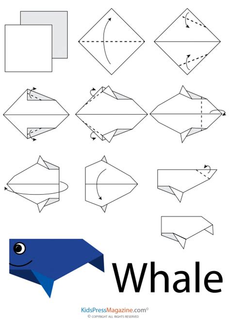 How To Make An Origami Whale - easy origami whale 1 kidspressmagazine