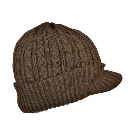 knit caps jaxon hats cable knit visor beanie hat beanies
