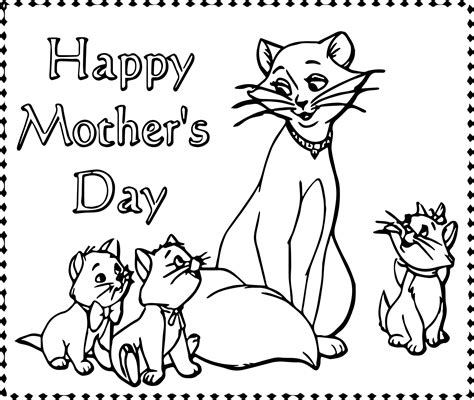 happy mothers day coloring page disney the aristocats happy day coloring page