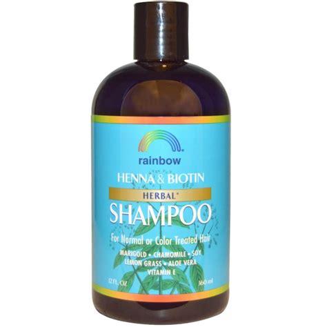 Herbal Bioin Rainbow Research Henna Biotin Herbal Shoo 12 Fl Oz