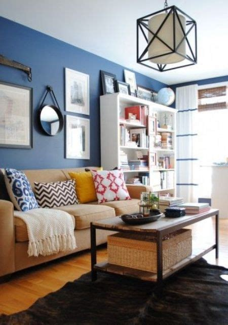 brown and blue walls 26 cool brown and blue living room designs digsdigs