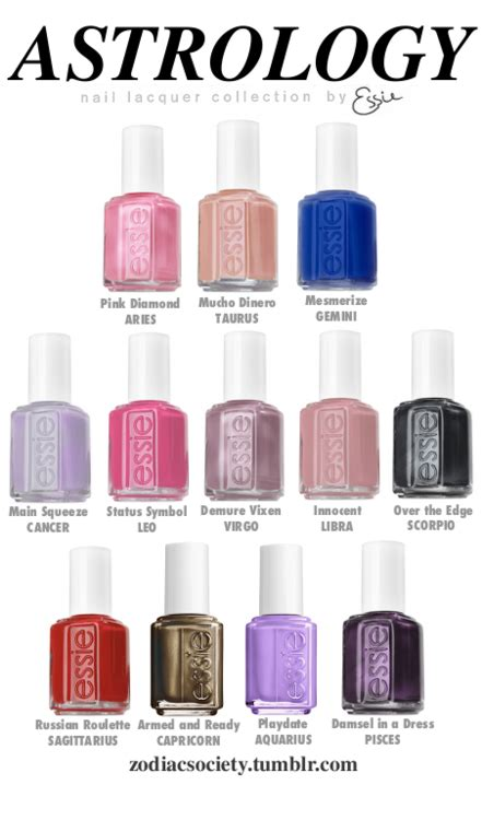 pisces colors essie zodiac nail colors pisces damsel in distress