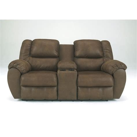 ashley double recliner ashley furniture quarterback double reclining loveseat in