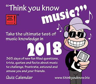 libro think you know music think you know music calendar can t get enough of music