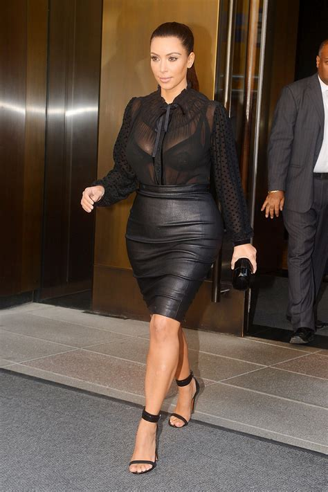 in tight leather skirt 11 gotceleb