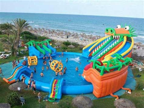 big boat with slide extra large inflatable swimming pool for sale beston