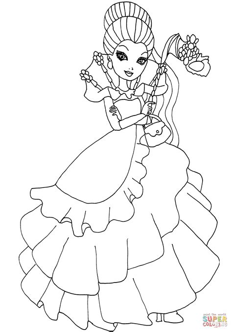 coloring pages ever after high raven queen ever after high thronecoming raven queen coloring page