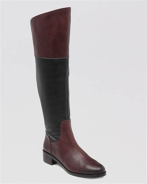 two toned boots vince camuto the knee boots vatero two tone in