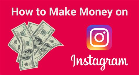 How To Make Money By Posting Photos Online - how to make money on instagram in 2017 best four ways