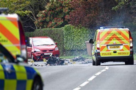 car crash south wales dies after wales crash involving motorcycle and car wales
