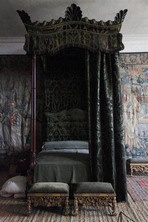 gothic canopy bed gothic bedroom decor with canopy bed and wallpaper and