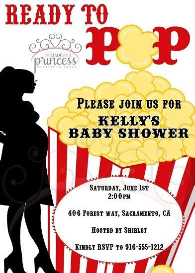 Ready To Pop Baby Shower Invitations Free by Ready To Pop Popcorn Printable Baby Shower Invitation