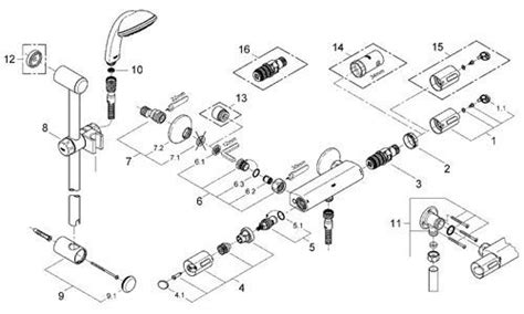 Grohe Showers Spare Parts by Grohe Shower Parts Grohe Faucet Cartridge Replacement