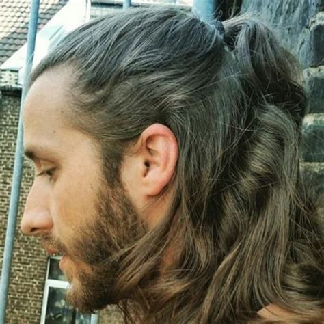 guy ponytail styles 65 best long hairstyles for men images on pinterest long