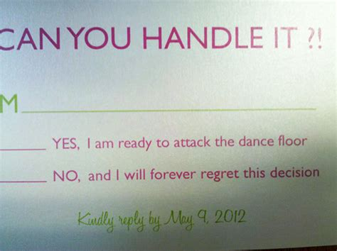 humorous wedding response cards 9 hilarious wedding invitations that simply can t be ignored bored panda