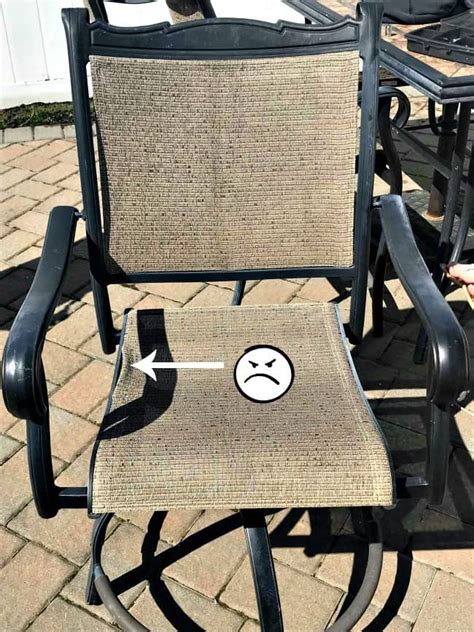 repair sling chairs how to save yourself money with diy patio chair repair