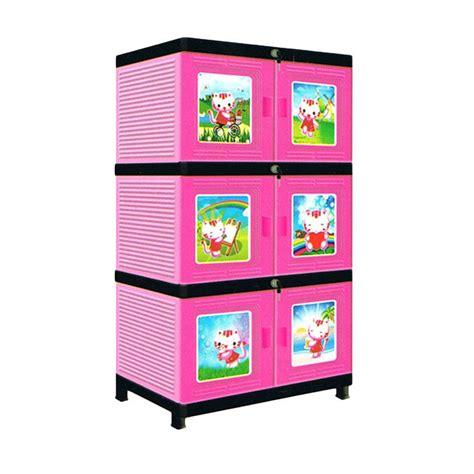 Lemari Plastik jual new jofer pink lemari plastik 3 susun