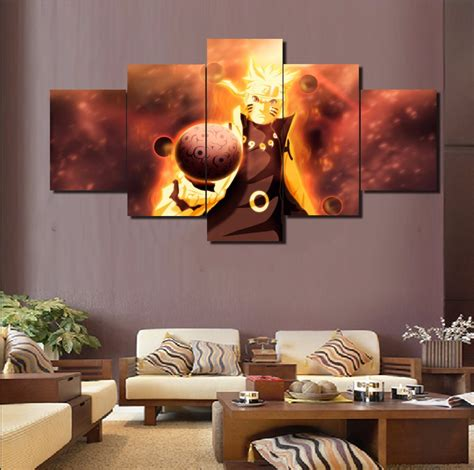 aliexpress home decor hd printed 5 piece canvas art naruto anime cuadros