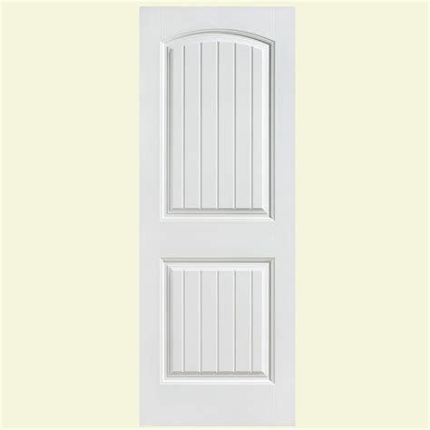 Panel Interior Doors Masonite 24 In X 80 In Solidoor Cheyenne Smooth 2 Panel Camber Top Plank Solid Primed